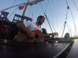 José Eduardo Oliveira Silva aboard the Vera Cruz. Credit: J.E. Oliveira Silva