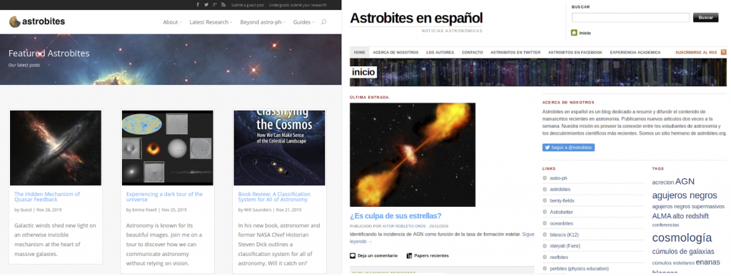 Astrobites article headings