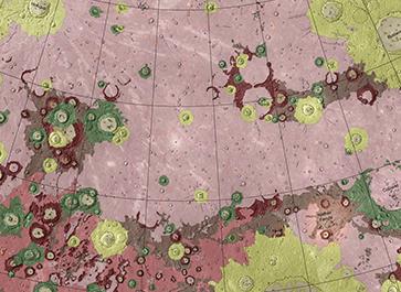 Geological map of Mercury