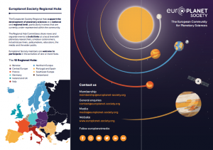 Europlanet Society Leaflet (2019 Edition)