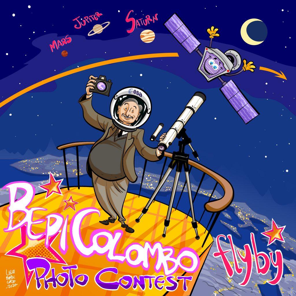 BepiColombo Photo Contest by Lelio Bonaccorso, a Sicilian comics artist and illustrator.