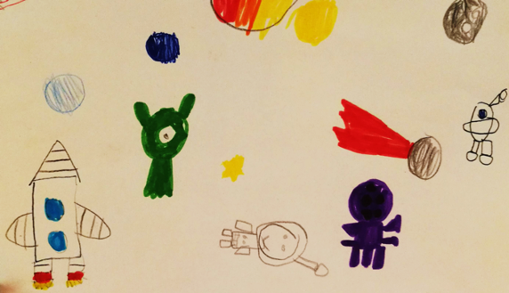 Entry in Expedition to space by Tom, 7 years old.