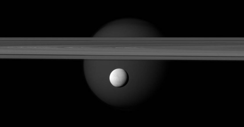 Saturn's Brightly Reflective Moon Enceladus