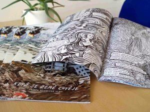 The printed comics.