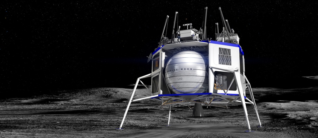 Blue Origin's Blue Moon lunar lander. Credit: Blue Origin.