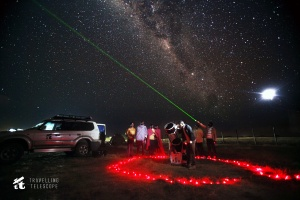 Locals viewing the Milky Way near Maasai Mara