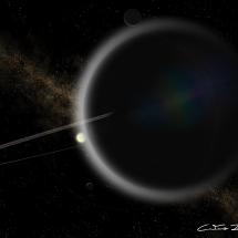 """""""Sunrise over """"cotton candy"""" exoplanet Kepler-51 b"""" - CaetanoJulio Neto"""