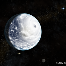 Colossal storm sweeps across ocean world Kepler-62 e by CaetanoJulio Neto