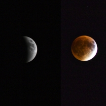 Penumbra-Umbra Supermoon Lunar Eclipse 2015 by Azul Pinochet Barros