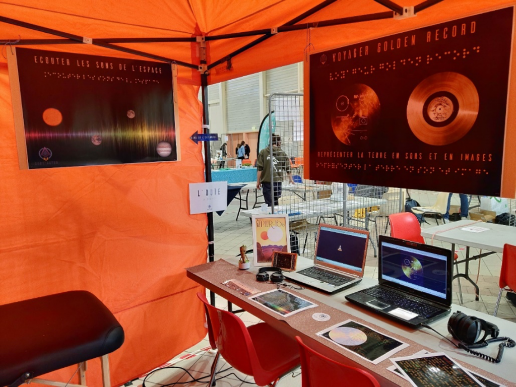 Discover the sounds of the Universe, the Sun, Jupiter, Mars and can you name the songs on Voyager's Golden Record? Scientilivre Festival at Diagora, Labège, France.