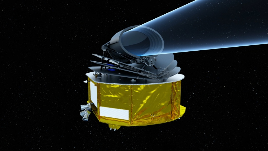 Artist's impression of Ariel. Image Credit: ESA/STFC RAL Space/UCL/UK Space Agency/ ATG Medialab