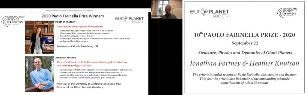 Farinella Prize Winners 2020: Jonathan Fortney and Heather Knutson