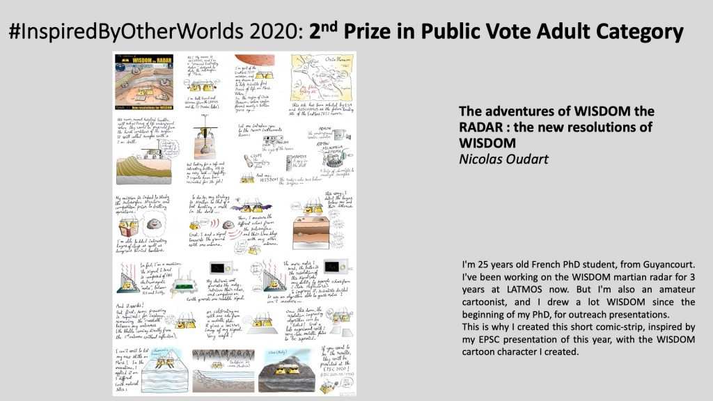 2nd Prize in #InspiredByOtherWorlds Arts Contest (Public Vote, Adult Category): The adventures of WISDOM the RADAR : the new resolutions of WISDOM by Nicolas Oudart