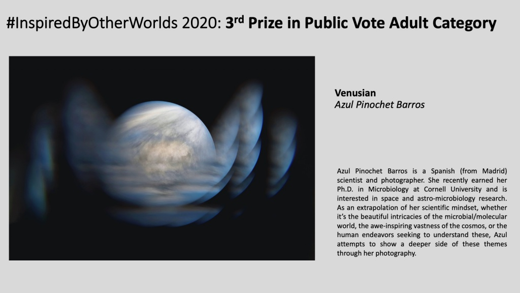 3rd Prize in #InspiredByOtherWorlds Arts Contest (Public Vote, Adult Category):