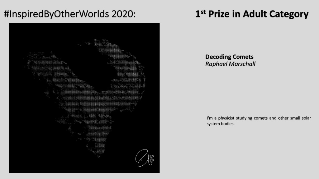 Winner of #InspiredByOtherWorlds Arts Contest (Judges Choice, Adult Category): Decoding Comets by Raphael Marschall