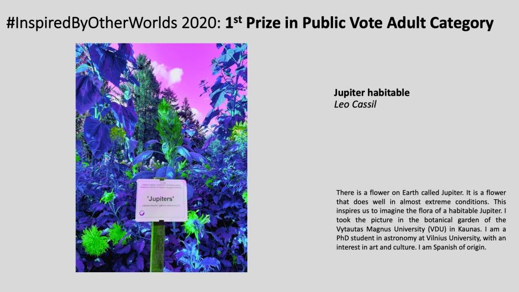 Winner of #InspiredByOtherWorlds Arts Contest (Public Vote, Adult Category): Jupiter habitable by Leo Cassil