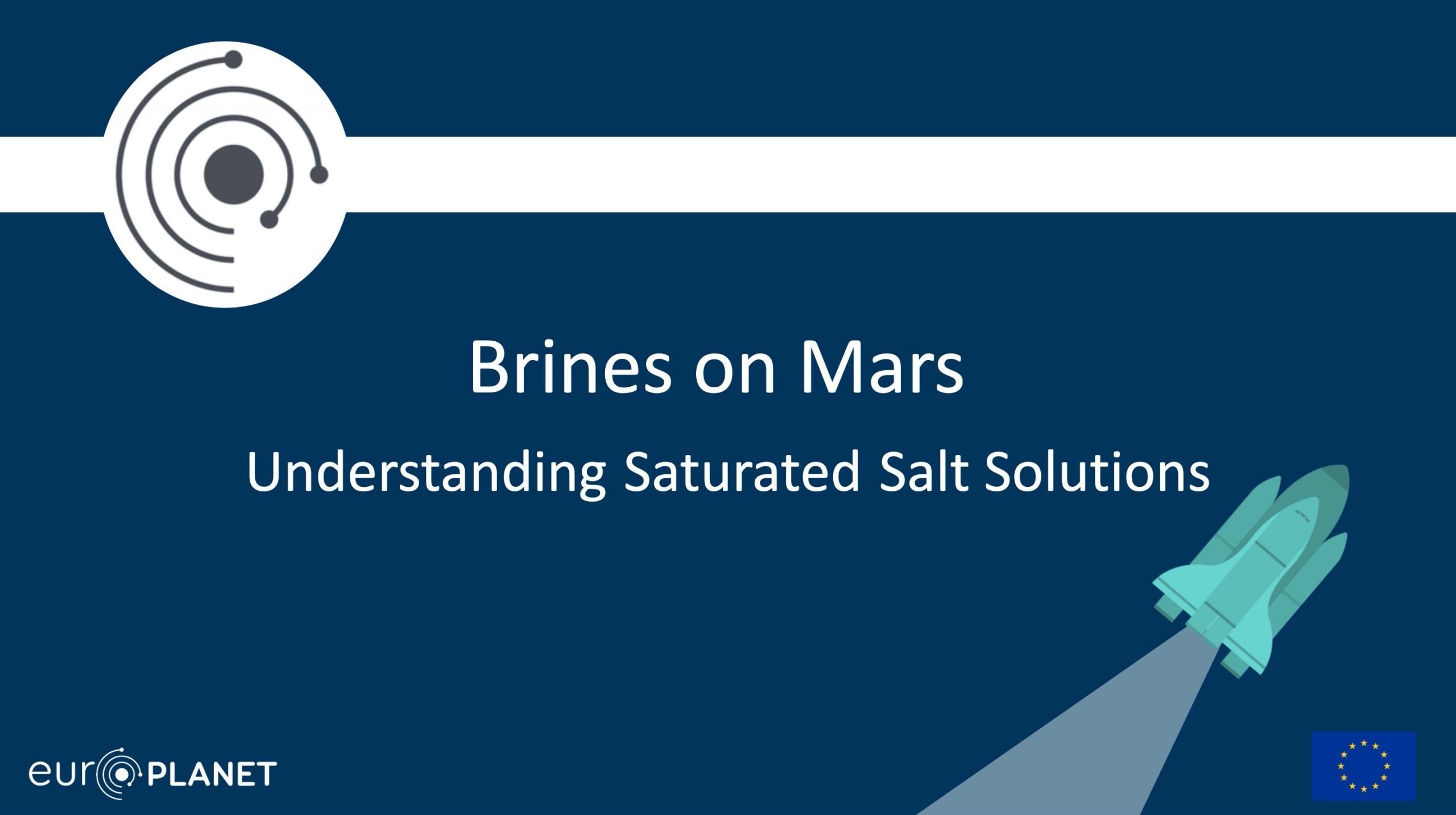 Mars Educational Resources - Brines on Mars
