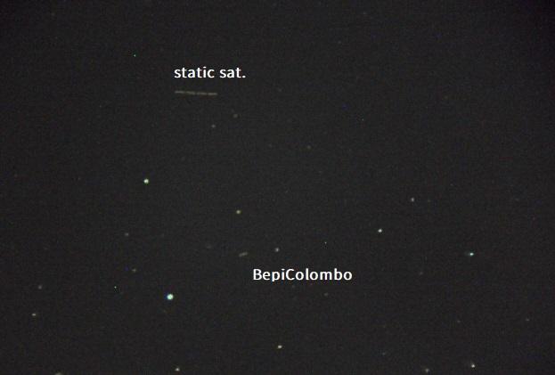 Credit: Hiroki Fukuyama. BepiColombo and satellite